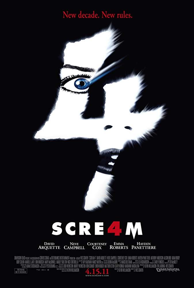 Cartel de Scream 4