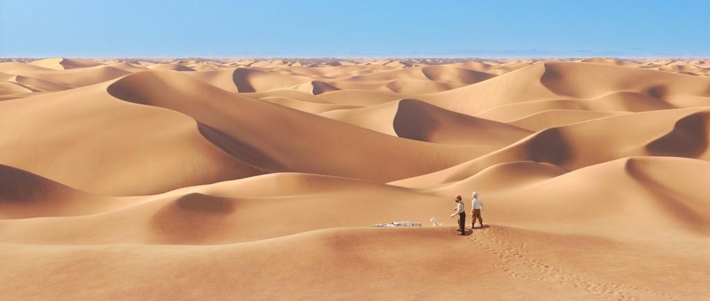 En el desierto...