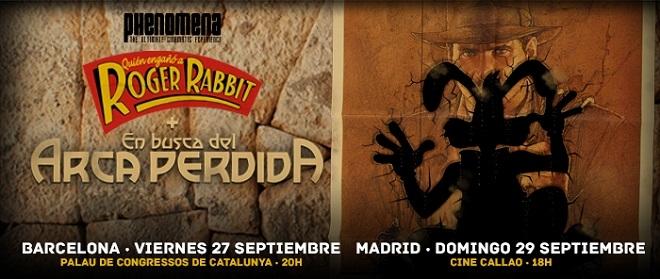 Cartel Roger Rabbit + Arca Perdida