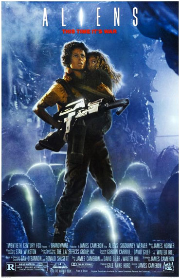 Cartel de 'Aliens: el regreso' de James Cameron.