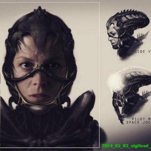 Diseños conceptuales del proyecto 'Alien 5' de Neill Blomkamp.