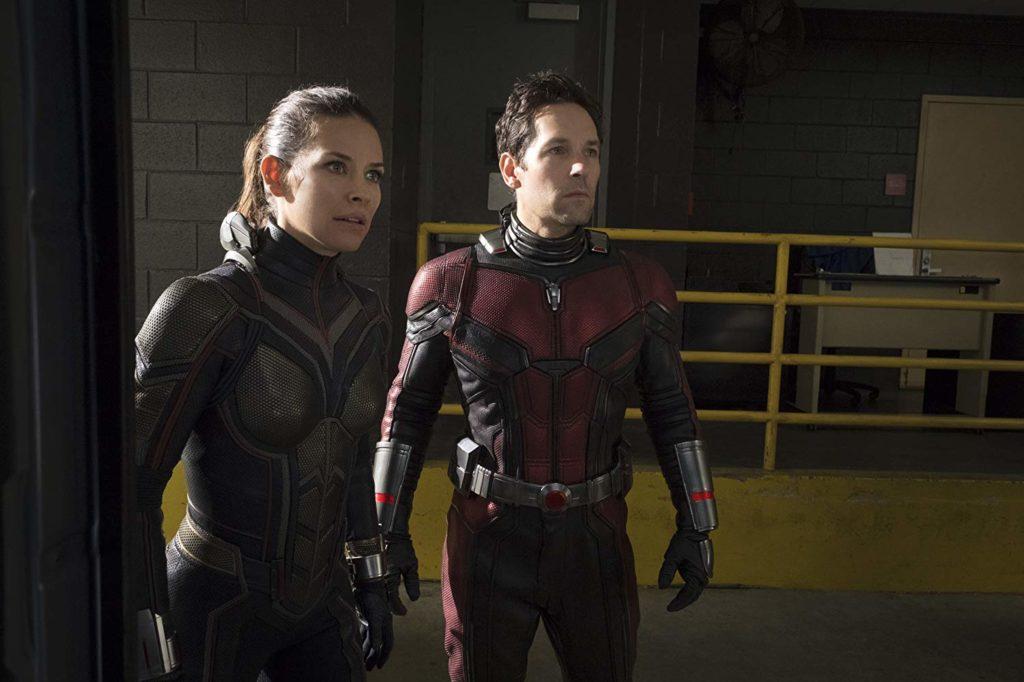 Paul Rudd y Evangeline Lilly en Ant-Man y la avispa (2018)