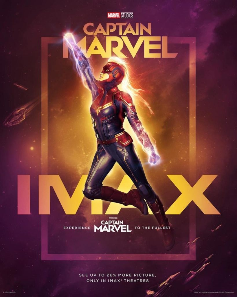 Cartel Imax de 'Capitana Marvel'