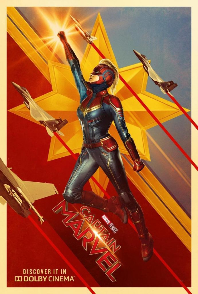 Cartel retro de 'Capitana Marvel'