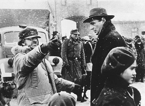 Steven Spielberg y Liam Neeson