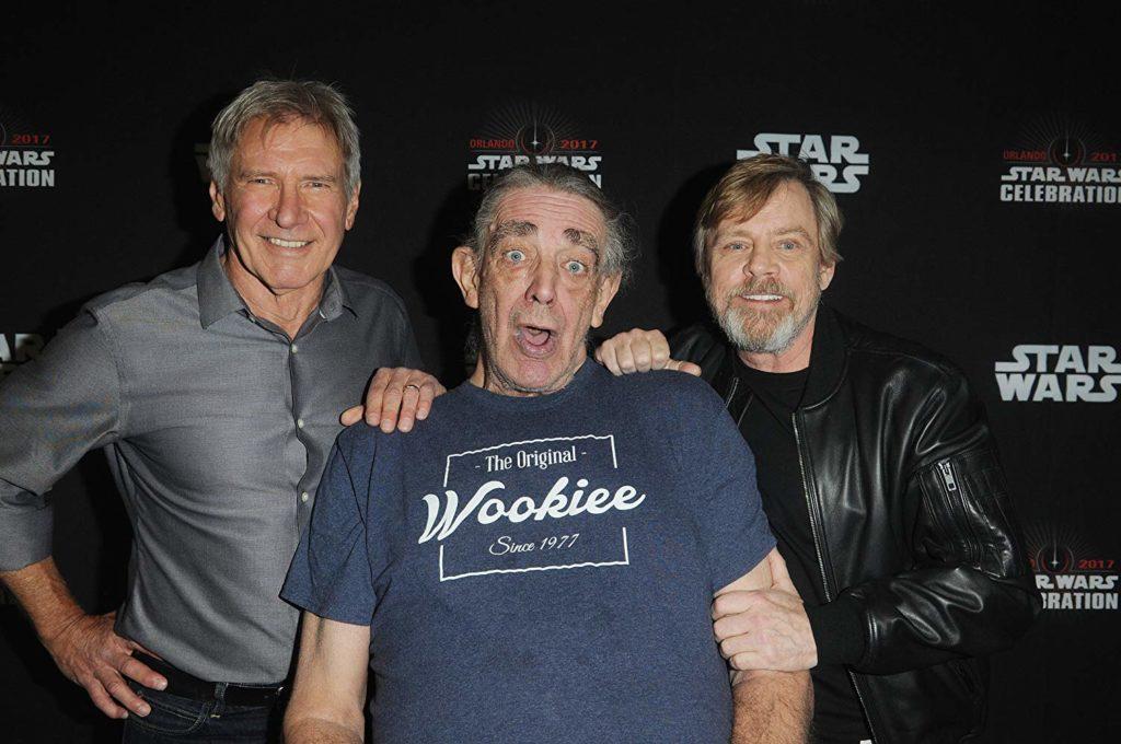 Harrison Ford, Mark Hamill, y Peter Mayhew