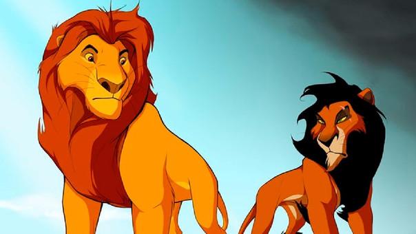 Mufasa y Scar en 'El rey león'