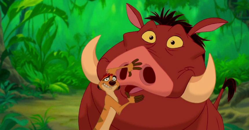 Timon y Pumba en 'El rey león'
