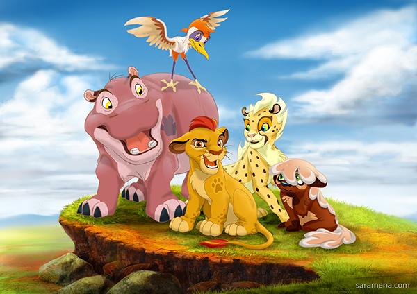 personajes no oficiales de 'El rey león'