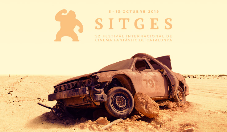 Banner de Sitges 2019, inspirado en 'Mad Max. Salvajes de autopista' (1979).