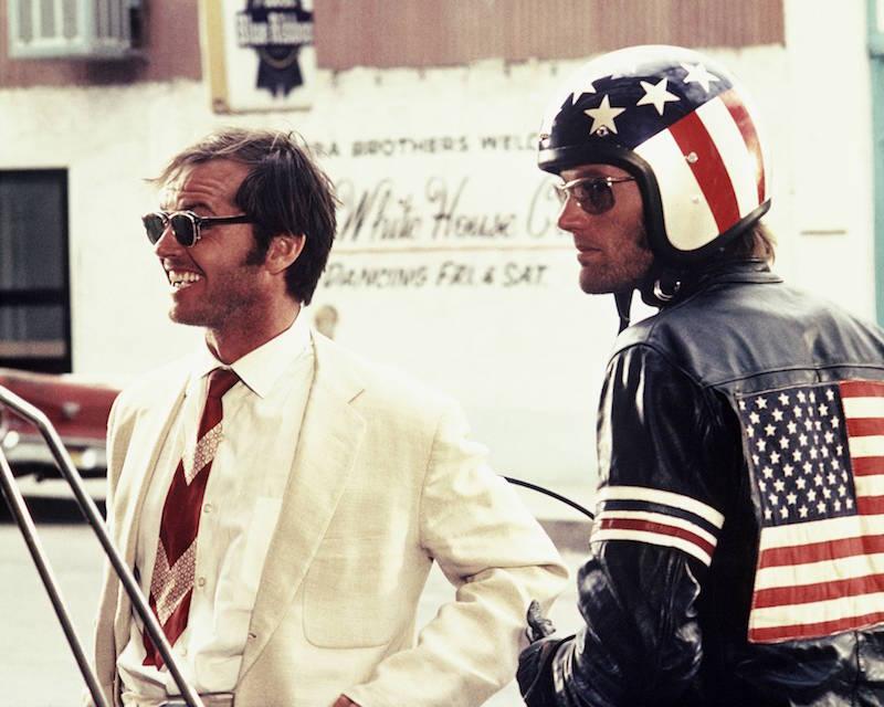 Jack Nicholson and Peter Fonda in Easy Rider (1969)