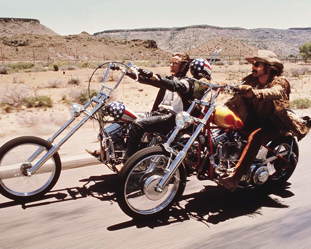 Dennis Hopper, and Peter Fonda in Easy Rider (1969)
