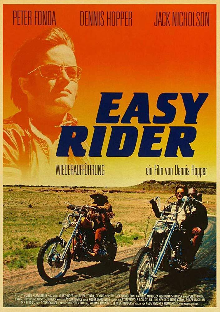 Cartel alemán de Easy Rider (Buscando mi destino)