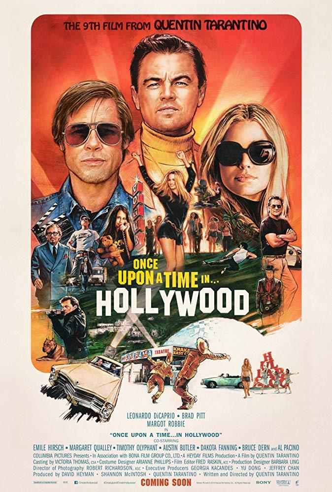 cartel de Érase una vez en Hollywood