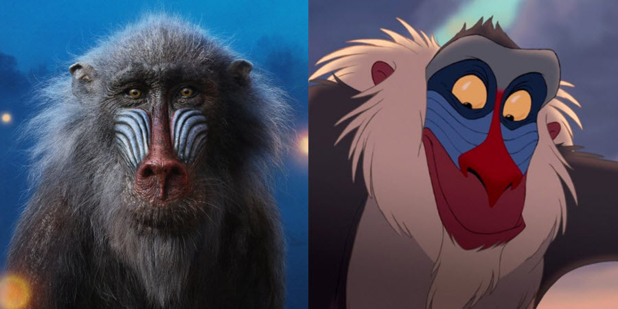 Comparación Rafiki (1994) vs (2019)