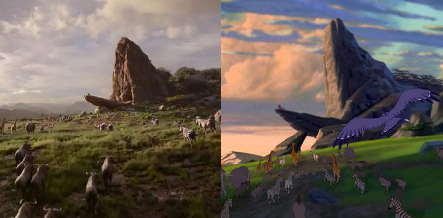 comparación técnica El rey león (1994) vs El rey león (2019)