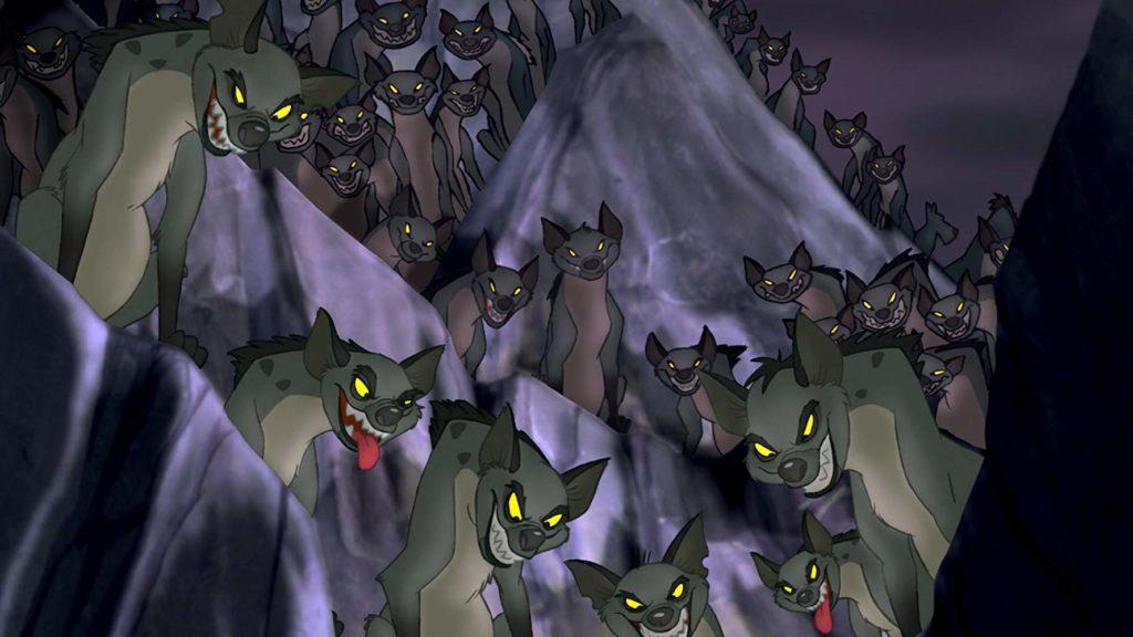 Las hienas de El rey león (1994)