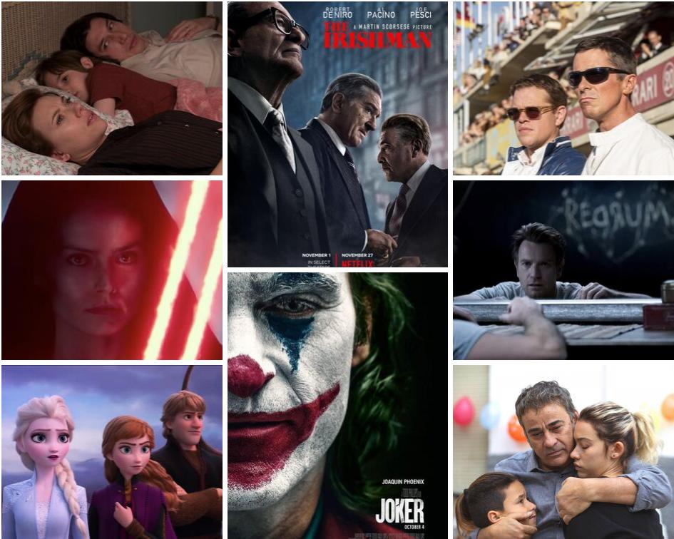 mosaico de películas de finales de 2019