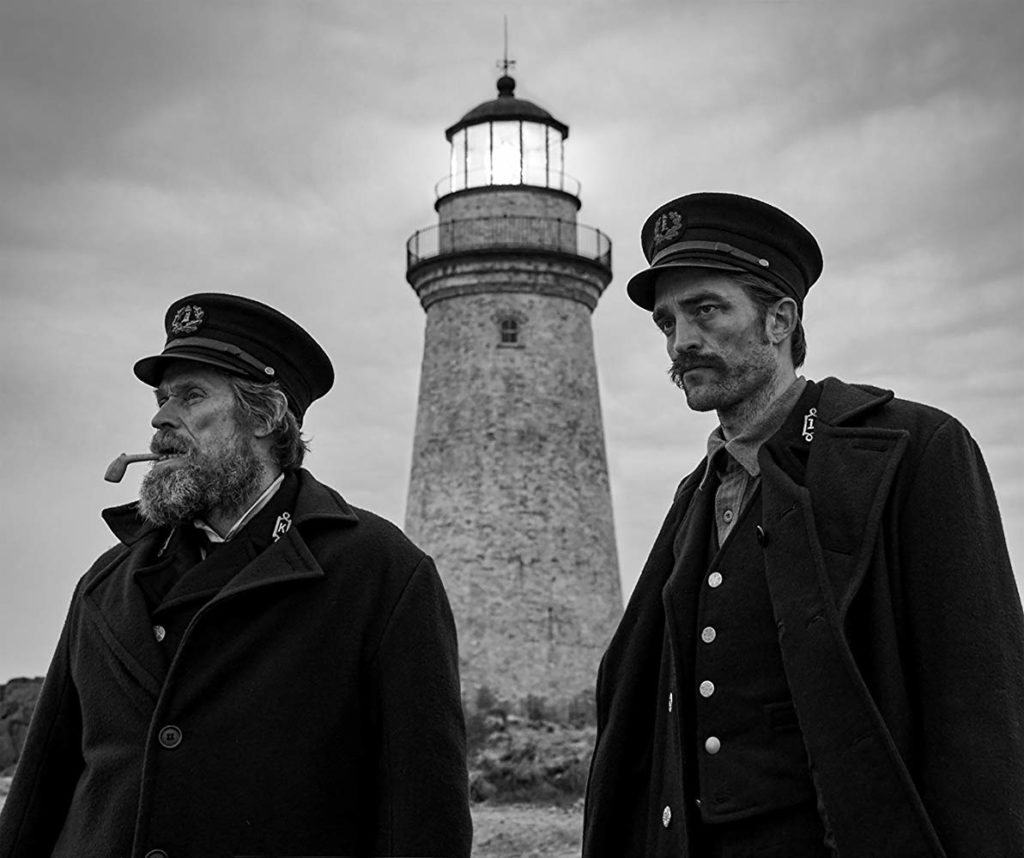 Willem Dafoe y Robert Pattinson en The Lighthouse (2019)