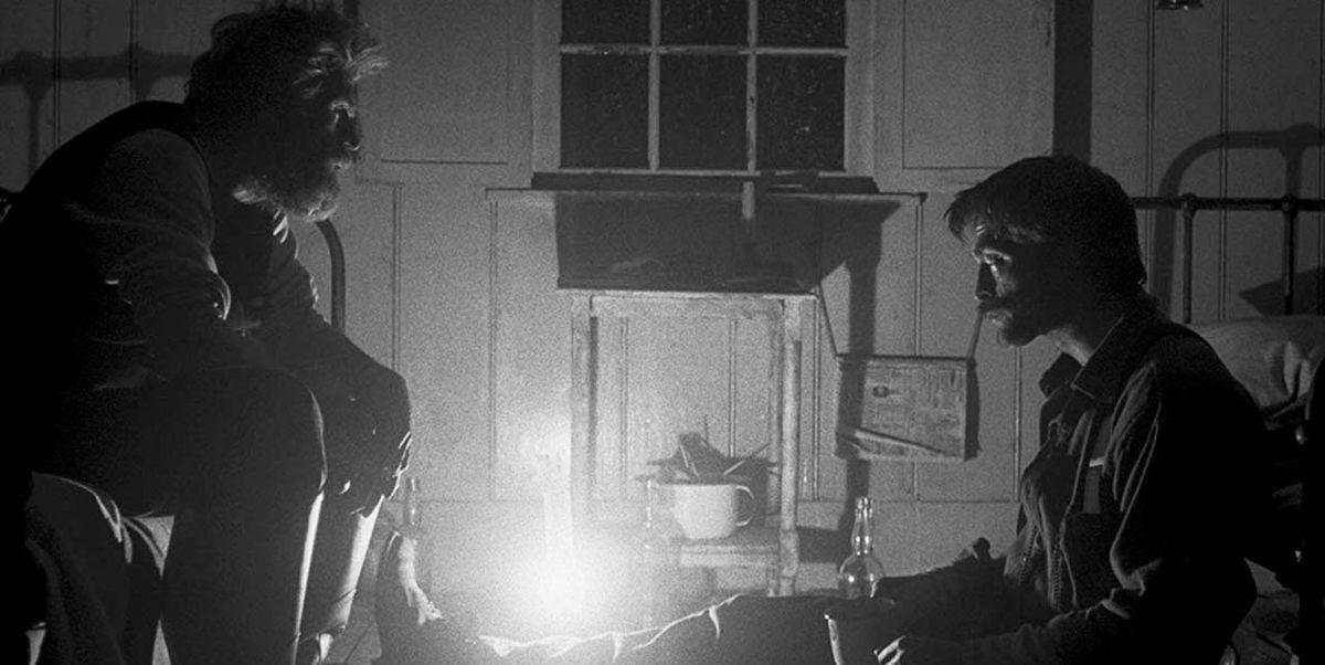Willem Dafoe y Robert Pattinson en una secuencia de The Lighthouse