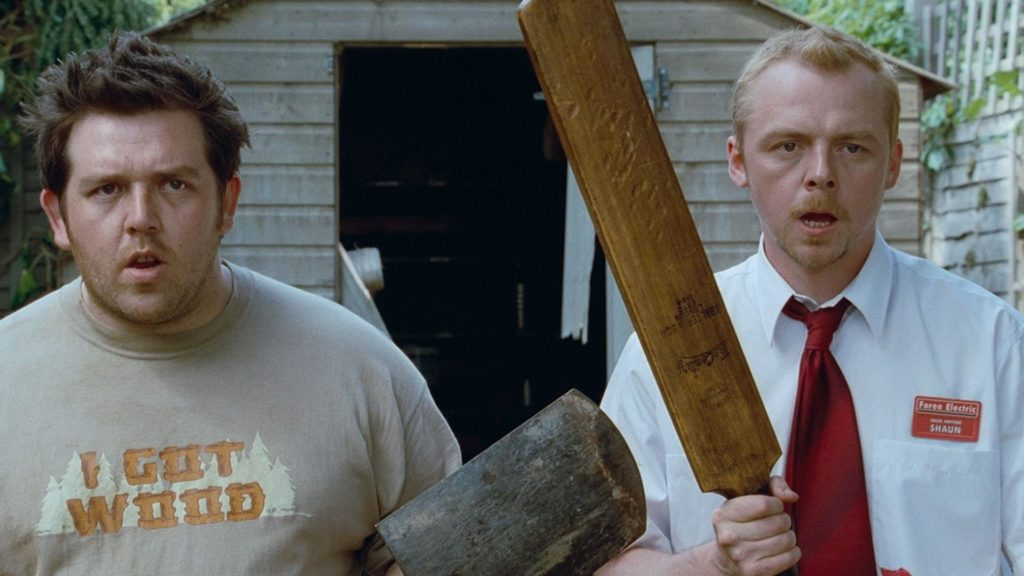 Nick Frost y Simon Pegg en Zombies Party