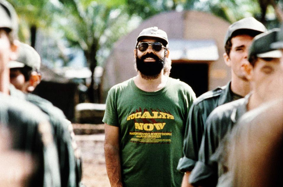 Coppola en el set de Apocalypse Now (1979)