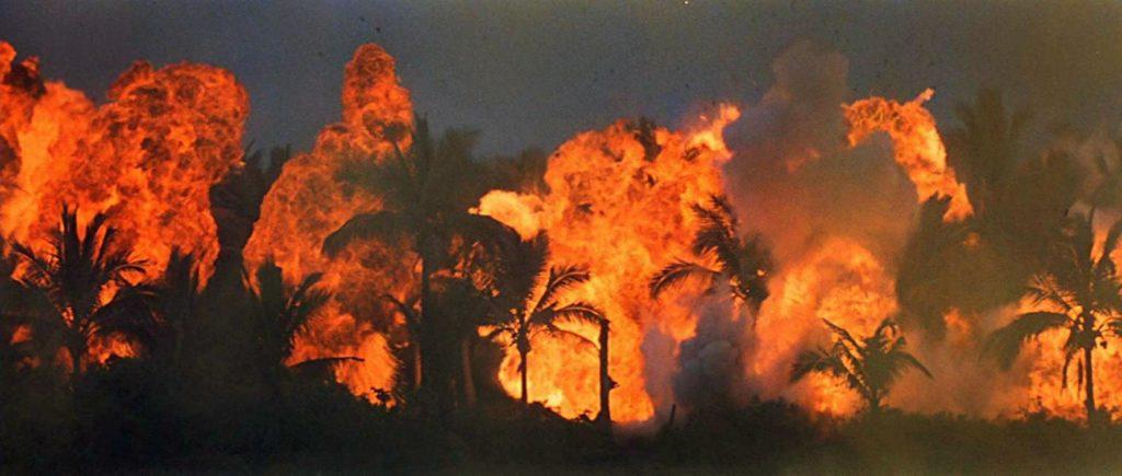 el bosque en llamas de Apocalypse Now