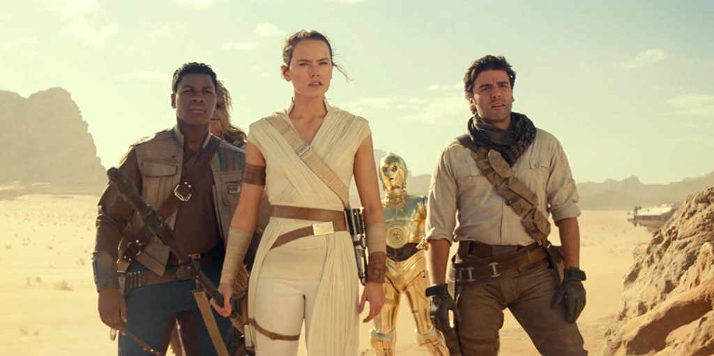 Oscar Isaac, John Boyega y Daisy Ridley en 'El ascenso de Skywalker'