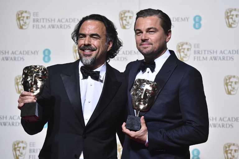 Leonardo DiCaprio y Alejandro G. Iñárritu El renacido BAFTA 2016