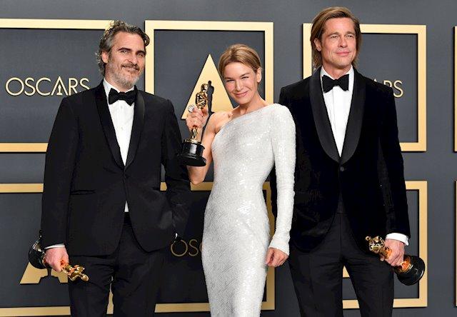 Joaquin Phoenix Renee Zellweger Brad Pitt Oscars