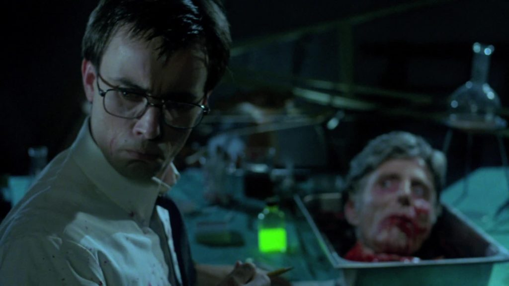 Jefrrey Combs en Re-animator, de Stuart Gordon